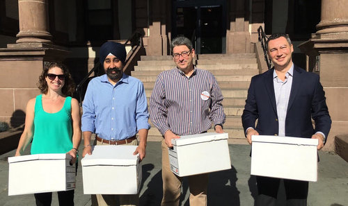 Hoboken mayoral candidate Ravi Bhalla and slate file petitions