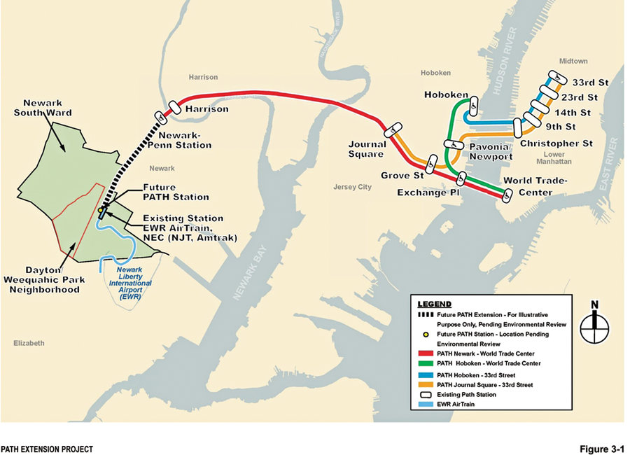 Newark Airport Airtrain Map Next stop: Newark Airport?   Hudson Reporter
