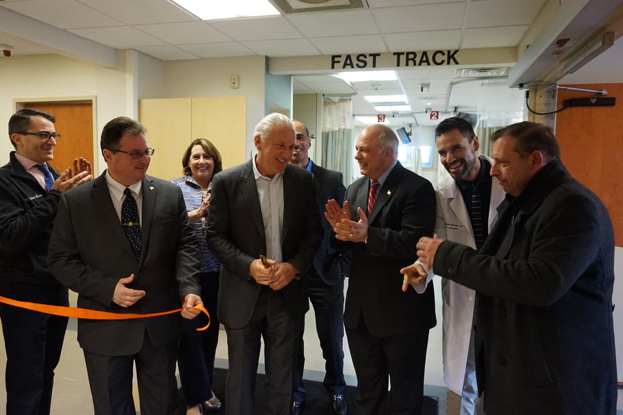 bayonne medical center cuts ribbon on 39 fast track 39 er hudson reporter. Black Bedroom Furniture Sets. Home Design Ideas