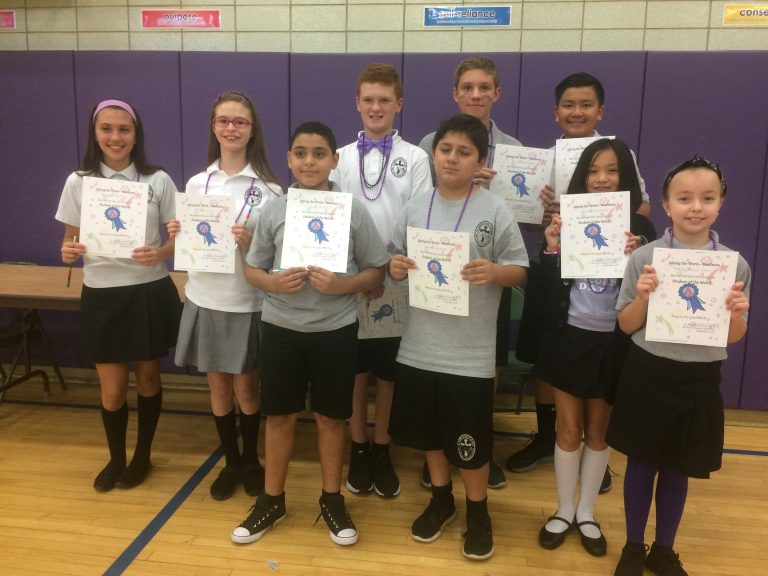 4TH TO 8TH GRADE STUDENTS OF THE MONTH (All Saints Catholic Academy)