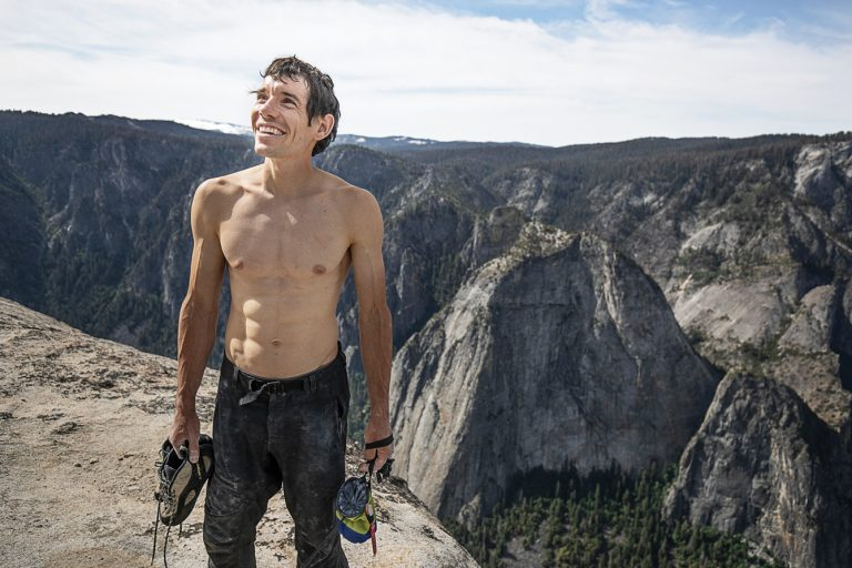 Honnold Reaches for a Handhold