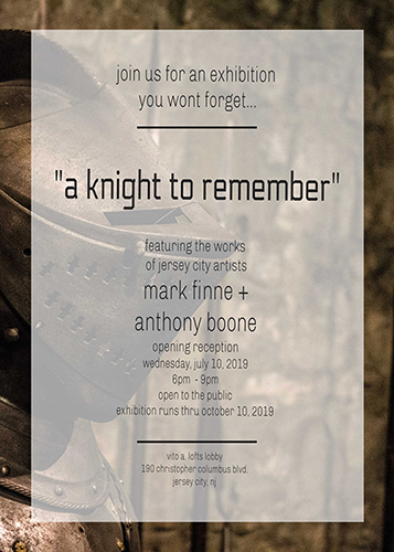 """ART SCENE: mark finne + anthony boone opening art reception """"a knight to remember"""""""