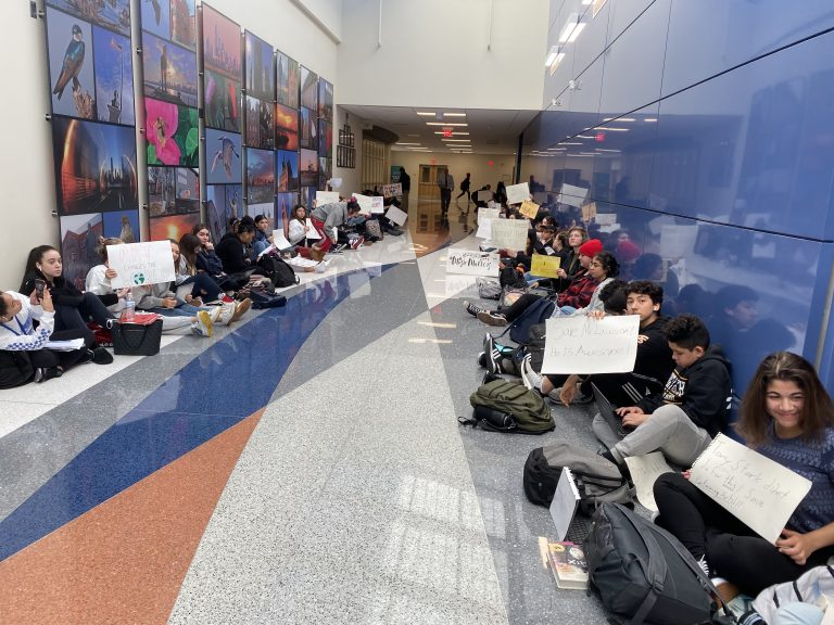 Students, parents protest layoff of High Tech music teacher