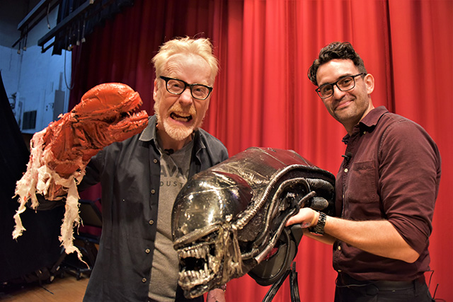 Adam Savage takes backstage tour of North Bergen's 'Alien' play