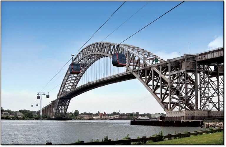 Bayonne to Staten Island gondola developer petitions for local support