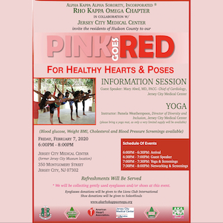 Pink Goes Red for Healthy Hearts and Poses
