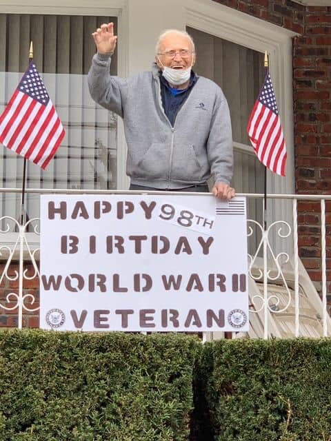 Bayonne EMS honor local veteran with drive-by birthday ceremony