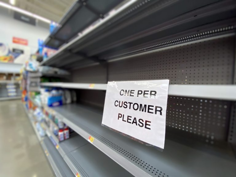 Binge buying to blame for empty shelves in Bayonne