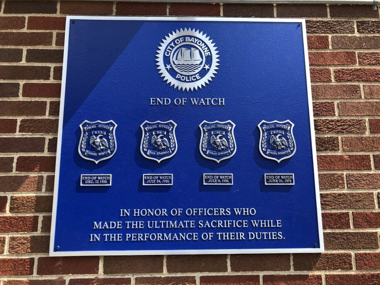 Bayonne Police Department honors fallen officers