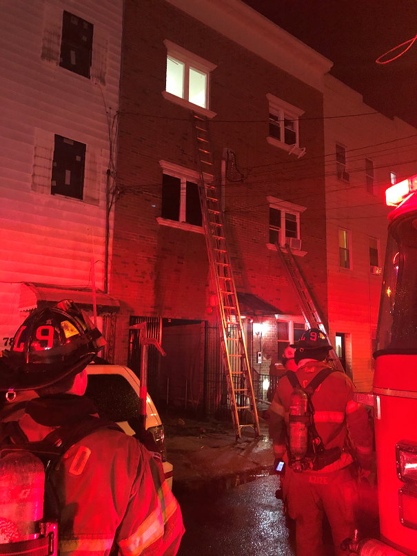 Woman saved from Jersey City fire