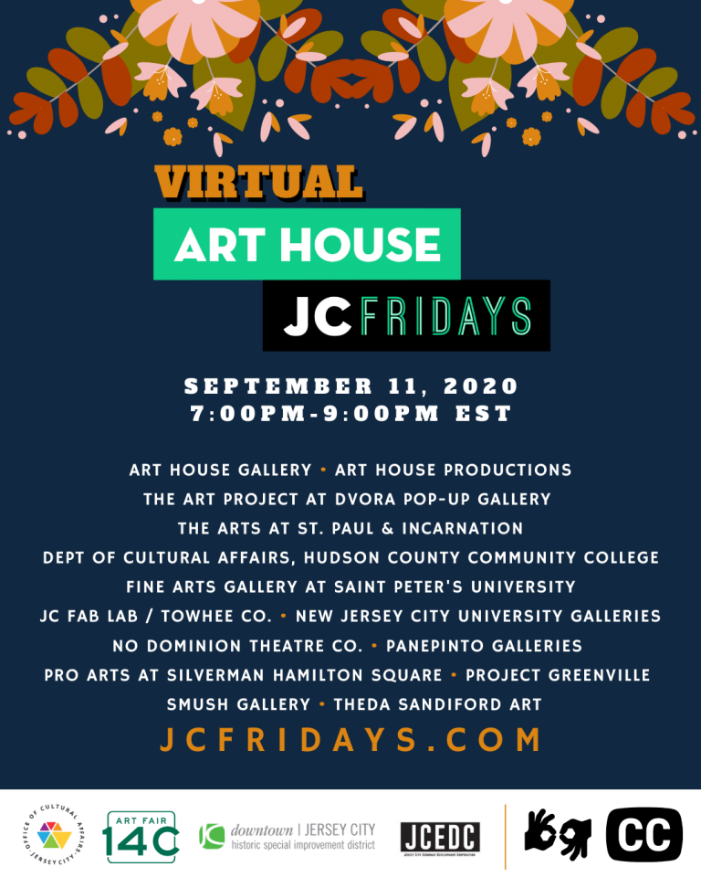 Art House Productions Announces Lineup for Virtual JC Fridays on September 11, 2020